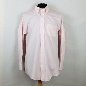 Brooks Brothers Original Polo Shirt Pink Sz 16/33